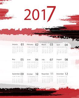 2017カレンダー無料テンプレート199