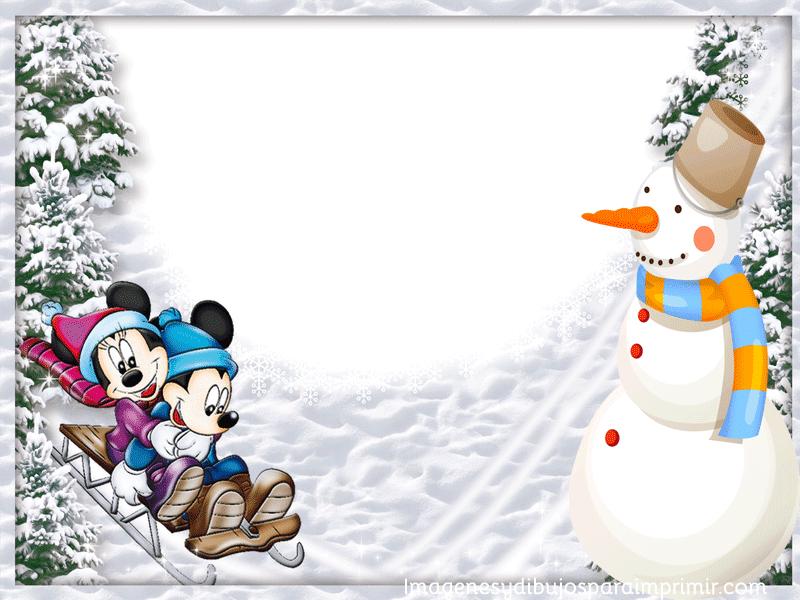 Marcos disney de navidad para imprimir | Imagenes y dibujos para ...