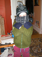 gangsta child in winter attire