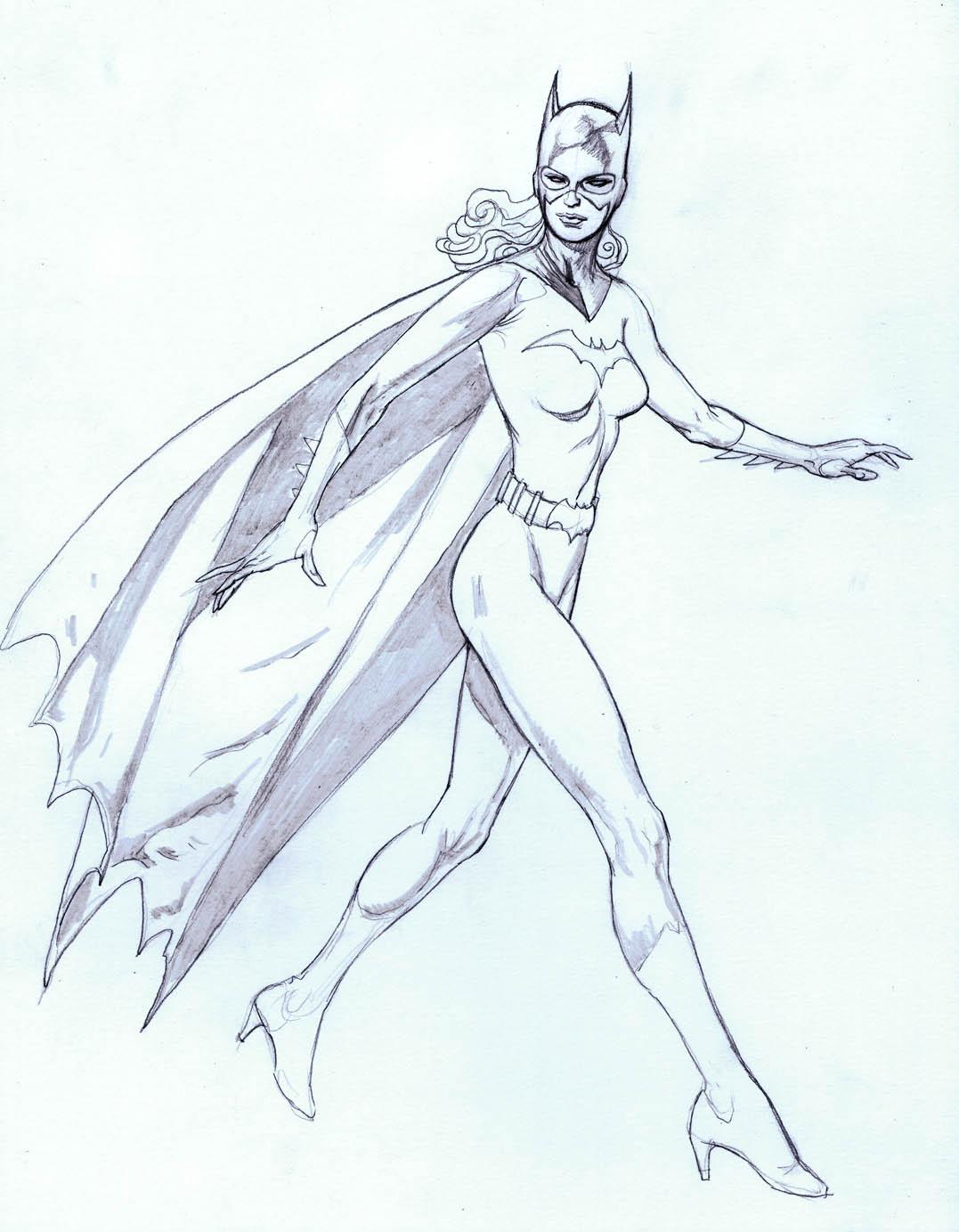 Kevin Nowlan: Batgirl pin-up