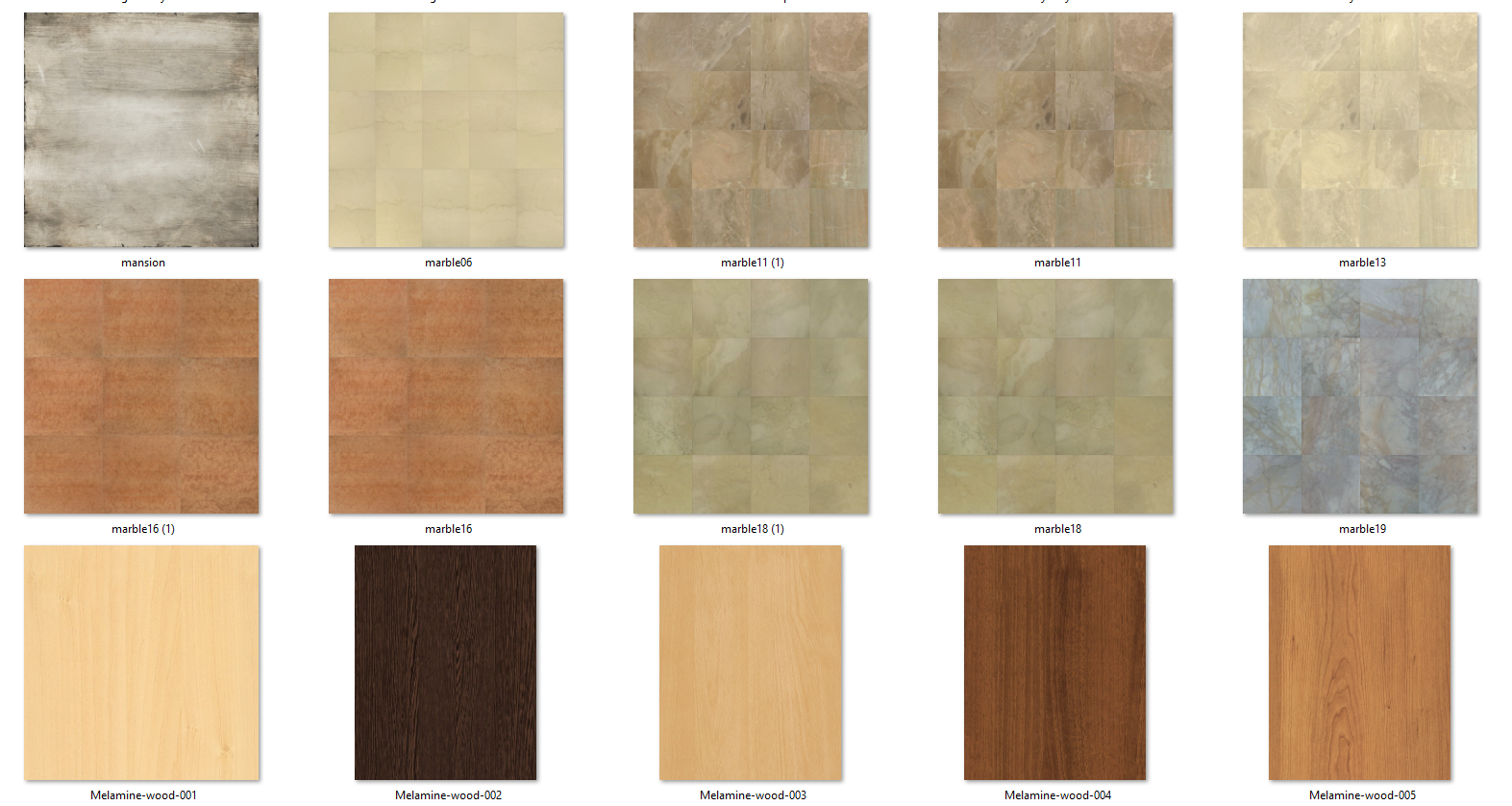 Pack 2 380 texturas hd fire3dstudio for Mobilia para sketchup 8