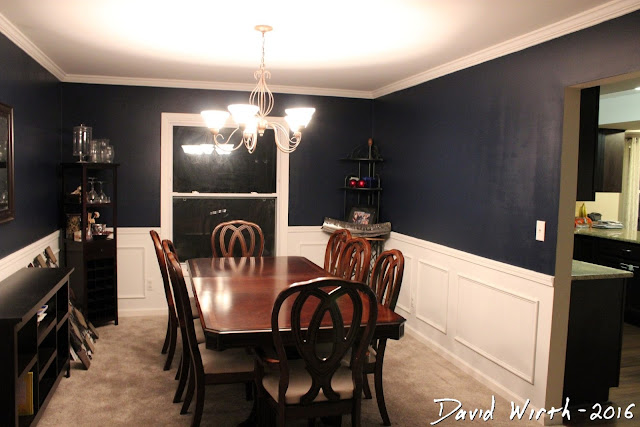 dining room remodel, formal, wall trim, chair rail