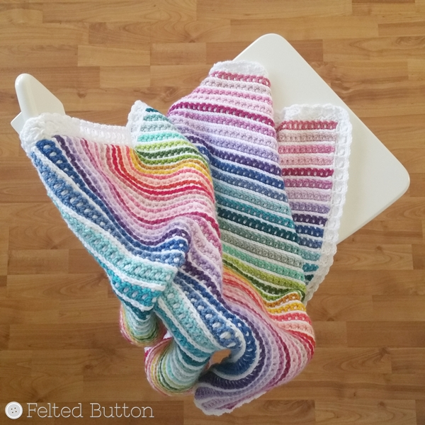 Janus Blanket Crochet Pattern by Susan Carlson of Felted Button