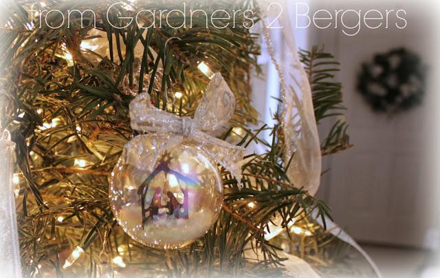 From Gardners 2 Bergers Diy Nativity Scene Glass Ornament