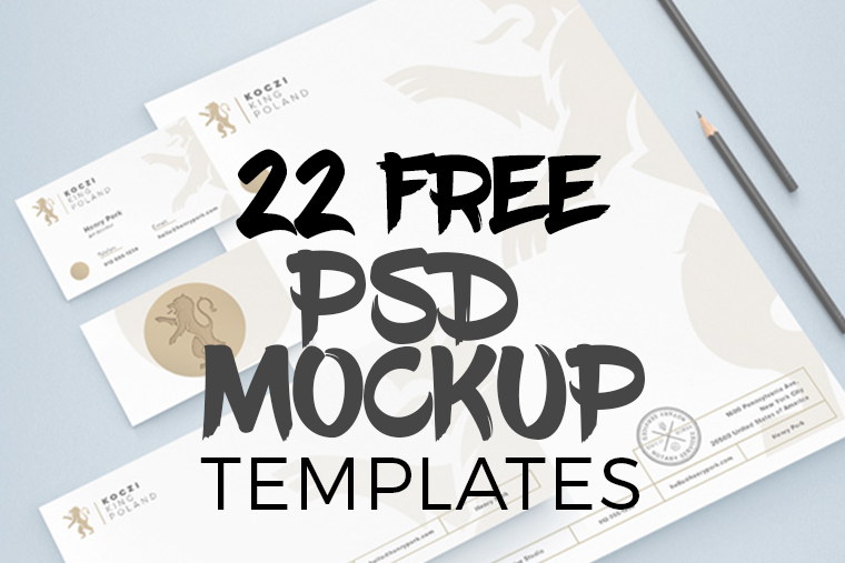22 Free Photoshop PSD Mockup Templates - Graphic Design Freebies
