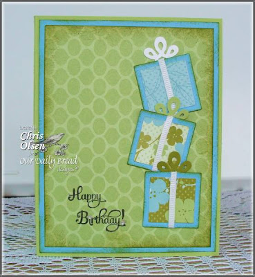 "Our Daily Bread designs ""Birthday Blessings"", Designer Chris Olsen"