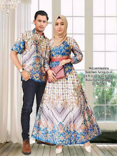 model baju pesta batik simple