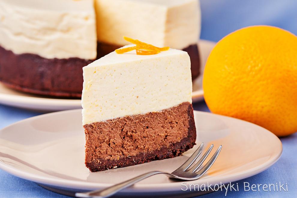 Sernik czekoladowy z musem z pomarańczy