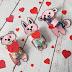 Słodki podarunek na Walentynki SZABLON DO DRUKU