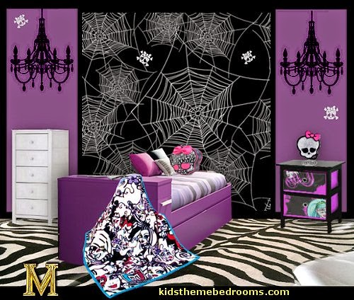 Monster High theme bedroom decorating ideas-maries manor theme bedrooms