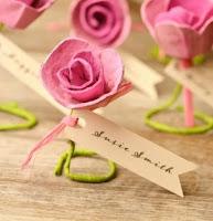 rosa fai da te con cartone delle uova