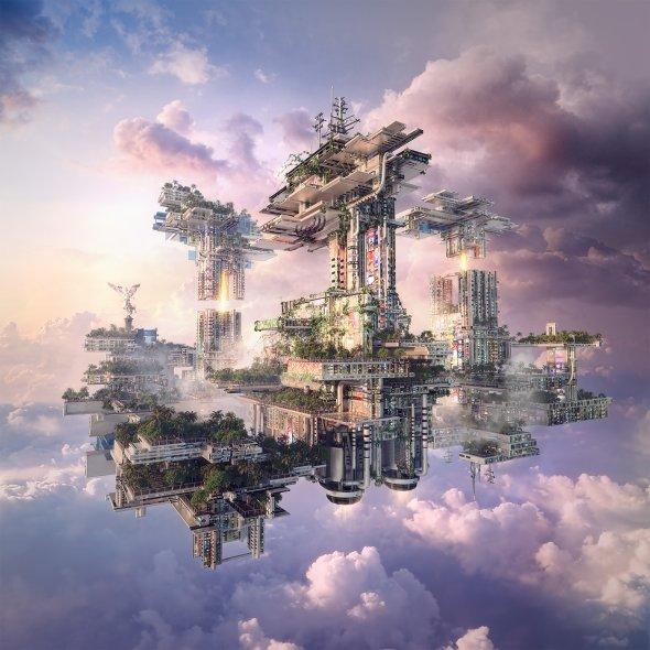 Yvan Feusi (Aiven) arte ilustrações modelos 3D photoshop fantasia ficção científica cenários futuristas