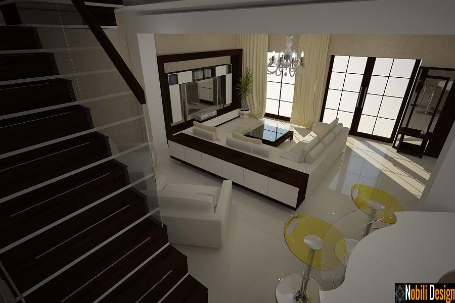 Design interior living case moderne Bucuresti - Design interior vile Bucuresti