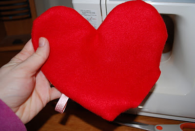 diy heart hand warmer