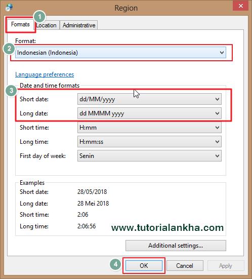 Mengatur Date atau Tanggal di Pc/Laptop