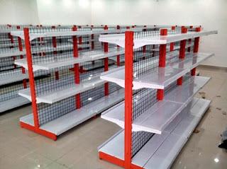 Daftar harga etalase dan rak toko, kaca, kayu, aluminium, minimarket, bekas, per meter, sembako, di solo, bandung, madiun, malang, palembang, magelang, surabaya, semarang.