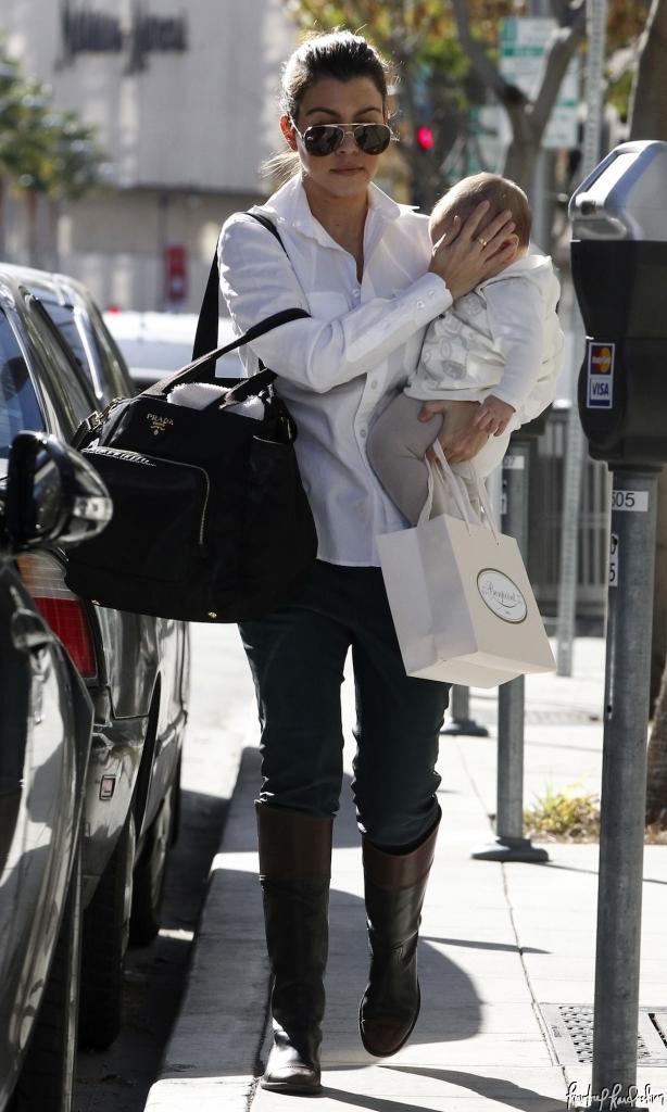 0a5a8fef03eb Kourtney Kardashian shopping at Bonpoint baby boutique in LA wearing Ralph  Lauren shirt