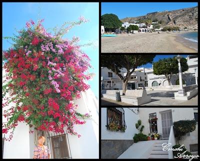 varias imágenes de Aguamarga en Almería, precioso pueblo blanco a orillas del mar mediterraneo