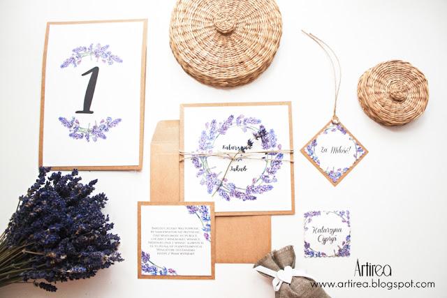 Lavender 2 - Nowe lawendowe zaproszenia i dodatki ślubne z suszoną lawendą