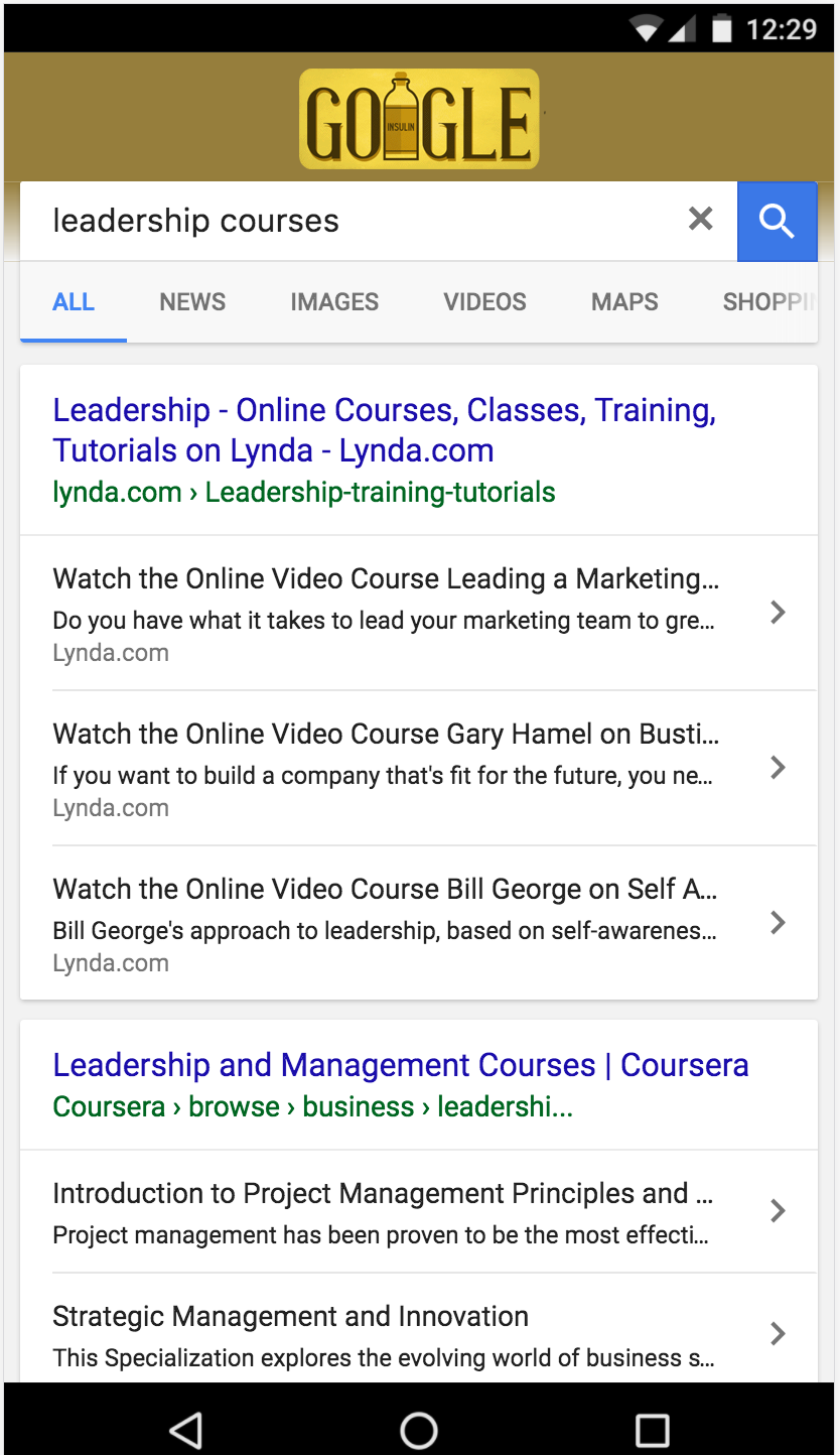 Google Rich Cards Online Courses