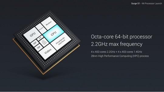 Xiaomi Unveiled Surge S1 Octa Core Chipset