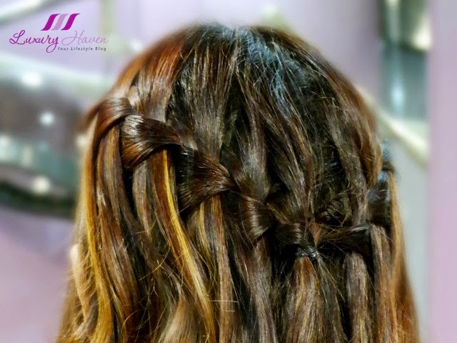 jass hair design waterfall braids hairstyle with curls