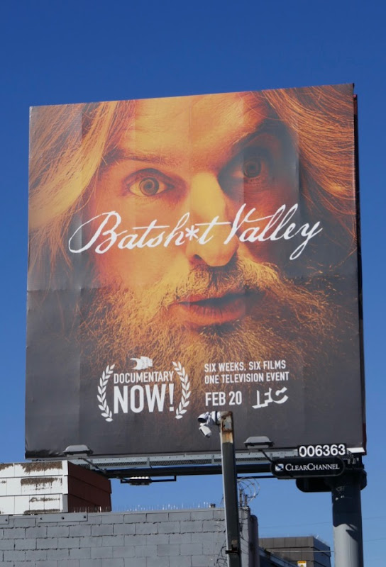 Batshit Valley Documentary Now season 3 billboard