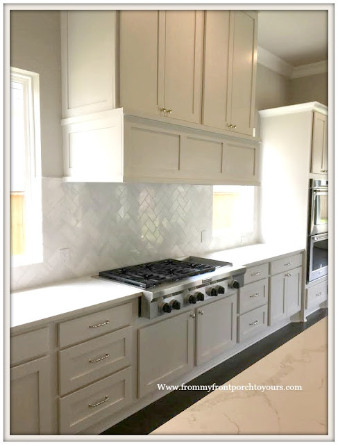 New Construction-Open House-Southern Style-Home-White Kitchen- Custom Range Hood-From My Front Porch To Yours