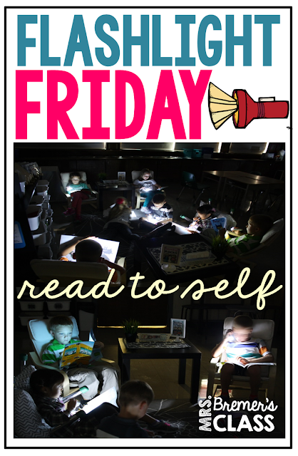 Flashlight Friday: Make read to self FUN by reading in the dark using flashlights!