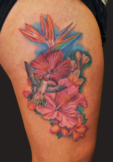 Hawaiian Hibiscus Flower Tattoo Designs: Gombal Tattoo Designs: Hawaiian Flower Tattoos Designs