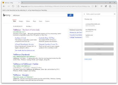 "Microsoft Bing Testing Showing ""Alternative"" Search Engines In Search Results"