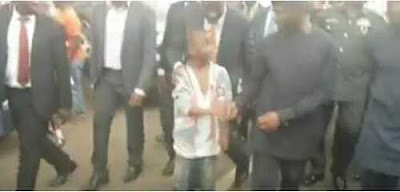 Little Boy Scales Past Large Crowd Just to Shake Acting President Osinbajo (See Video)