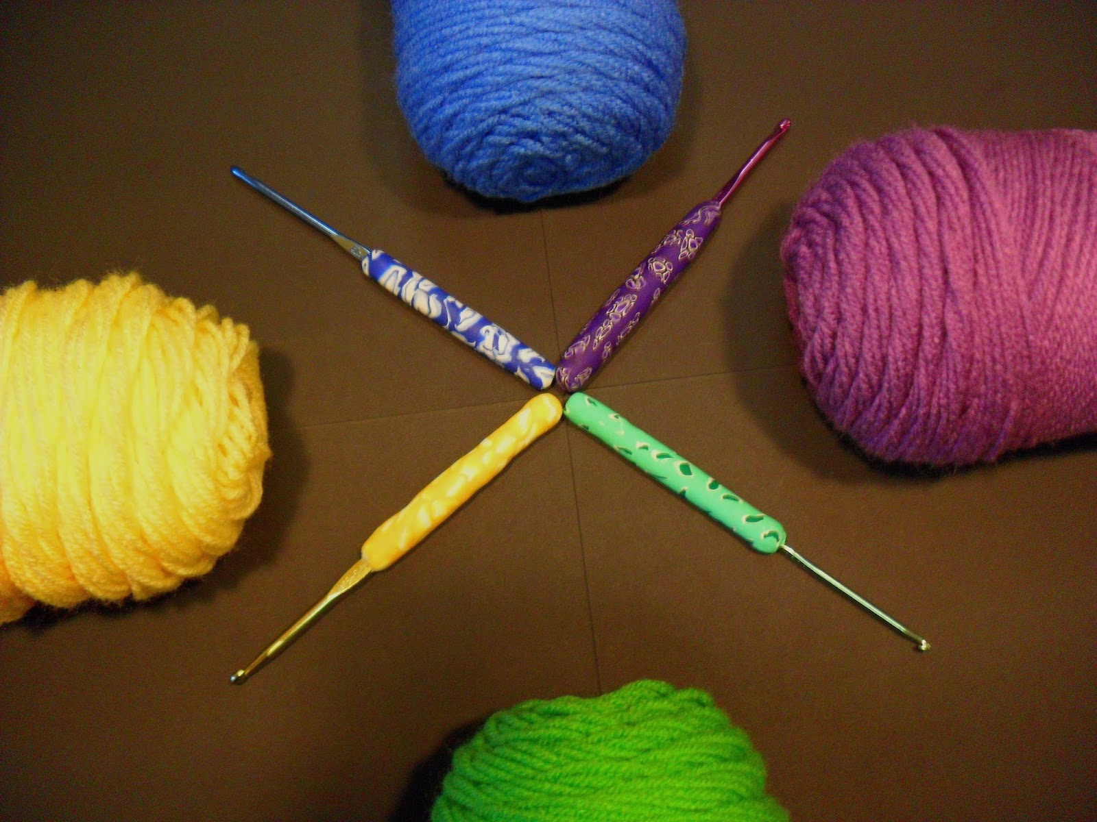 Law Student To Life Student Colorful Polymer Clay Crochet Hook Grips