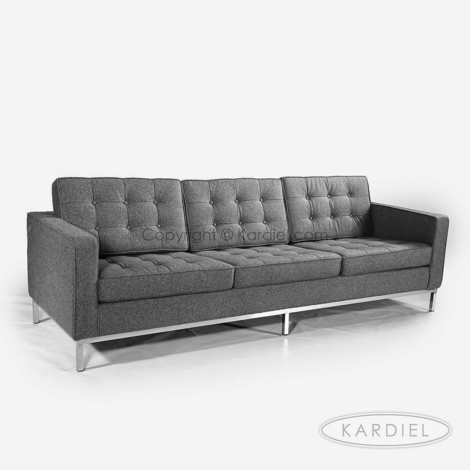 charcoal gray sofa bed mid century modern leather grey couch