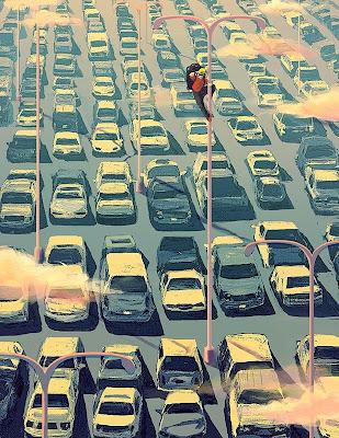 Ilustracion absurda y surrealista