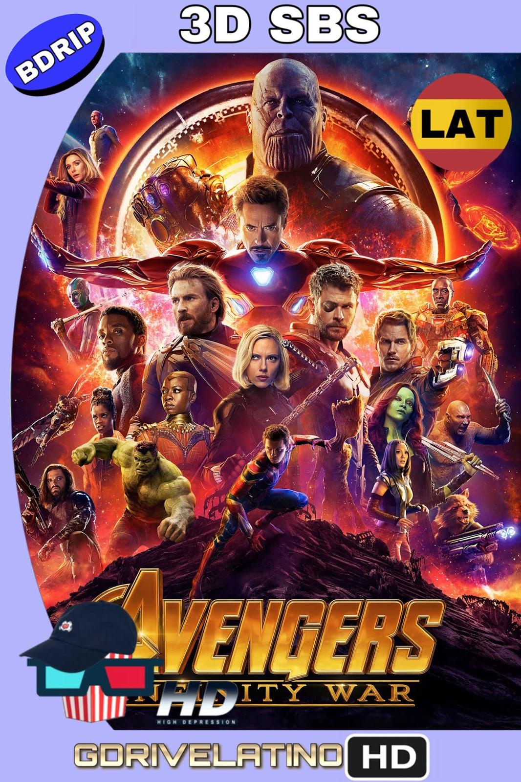Avengers: Infinity War (2018) BDRip 1080p 3D SBS (Latino – Inglés) MKV
