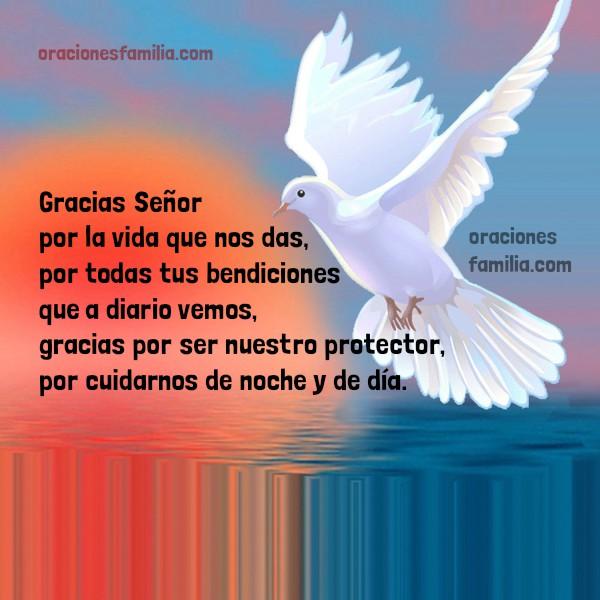 Linda plegaria, oración corta de acción de gracias a Dios, frases con oración de gracias Señor por Mery Bracho