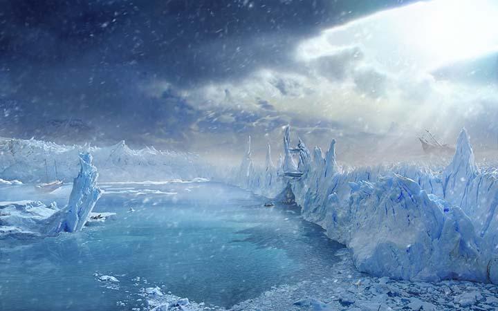 kış resimleri soğuk ve buzlu