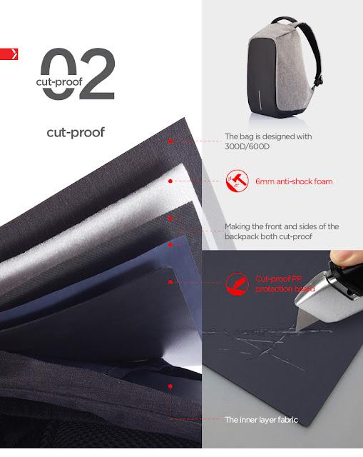 Bag Sandang Anti-Kecurian Untuk Pengguna Pengangkutan Awam