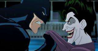 Batman agarrando a Jokerr
