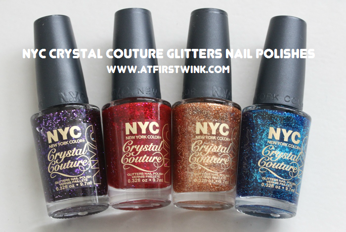 NYC Crystal Couture glitters nail polishes review