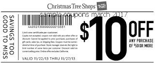 Christmas Tree Shops coupons march