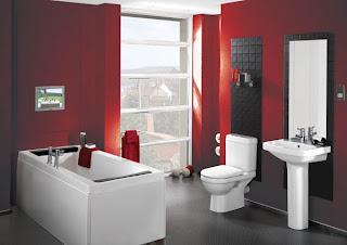 Baño color rojo