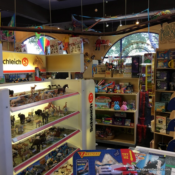interior of Thinker Toys shop in Carmel, California