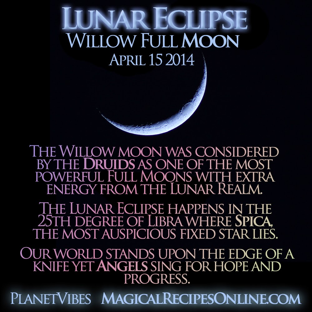 In Cold Blood Quotes And Page Numbers: Planet Vibes: Lunar Eclipse, Willow Full Moon, April 15
