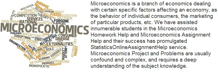 microeconomics assignment Avail our microeconomics assignment writing help service to secure top grades in your microeconomics assignments at transtutorscom you get.