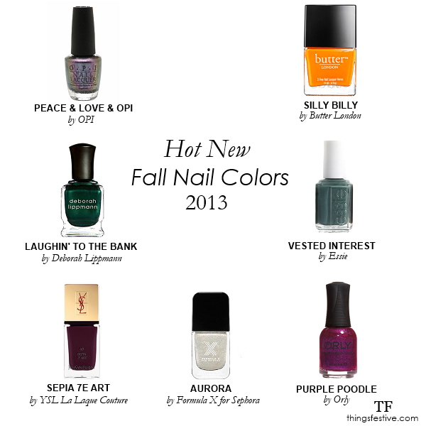 Hot Fall Nail Colors: Wedding Worthy? | Things Festive ...