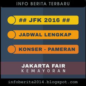 Jadwal acara - konser PRJ 2016 - JFK 2016