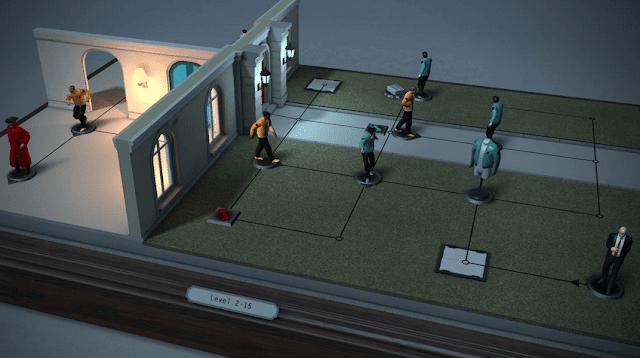 Game puzzle android - Hitman GO yang seru dimainkan