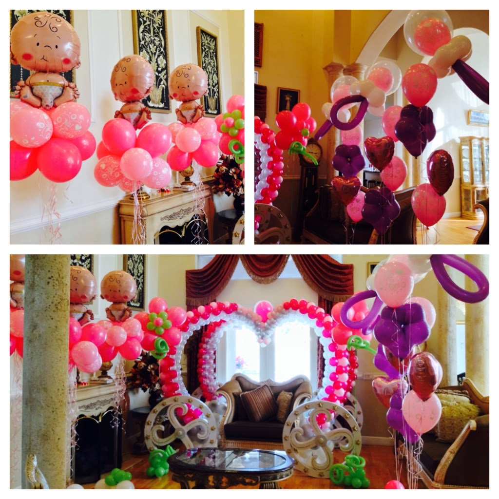 Baby girl shower party decoration